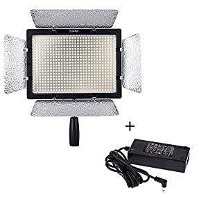 YONGNUO YN-600 PRO LED VIDEO LIGHT FOR CANON NIKON CAMERA CAMCORDER W/ DC INPUT