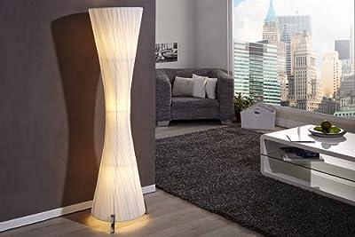 Invicta Interior Helix L Moderne Design Stehlampe weiss 160cm von Riess Ambiente auf Lampenhans.de