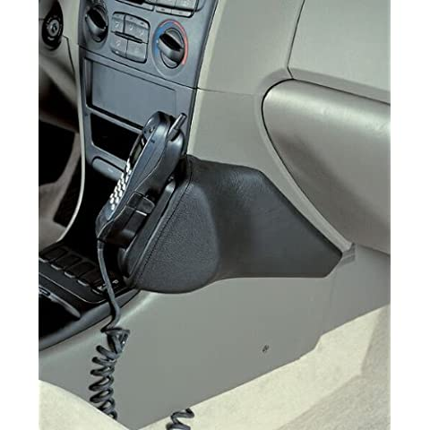 Kuda–Consola de teléfono para (LHD) para Hyundai Sonata (EF) a partir de 1/99hasta 6/01Mobilia (piel sintética), color negro