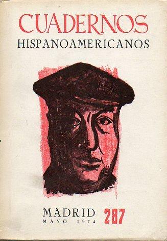 CUADERNOS HISPANOAMERICANOS. Revista mensual de cultura hispánica. Nº 287. PABLO NERUDA.