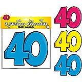3 STICKERS DÉCO : 40 ANS