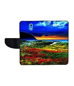KolorEdge Printed Flip Cover For HTC Desire 526G Plus -Multicolor (50KeMLogo10976HTC526GPlus)