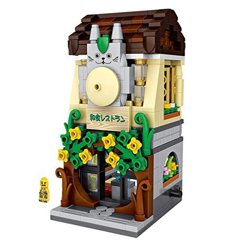 AHWZ Bausteine, die Spielzeug Mini Granulat für Puzzle-Materbling-Tozzle-Spielzeug Japanisches Restaurant,Restaurant (Japanische Bausteine)