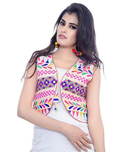 Banjara Women's Jacket (SJK-CKD02_White_Free Size)