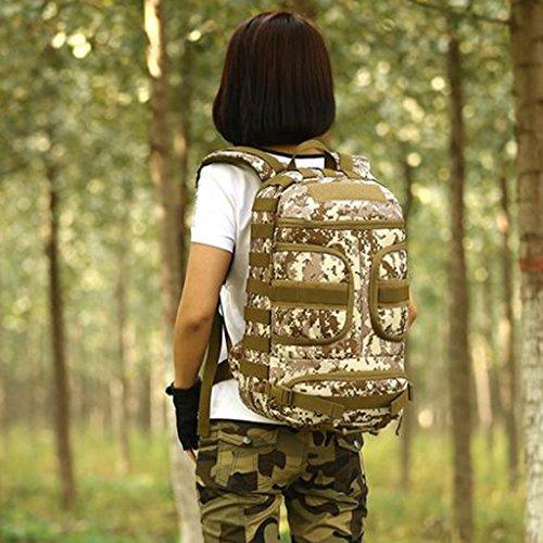 Gazechimp Molle Rucksack Unisex Erwachsene Taktischer Rucksack 35L Trekkingrucksack Wanderrucksack im Freien Outdoor Sporttasche, wasserdicht und kompakt Desert Digital