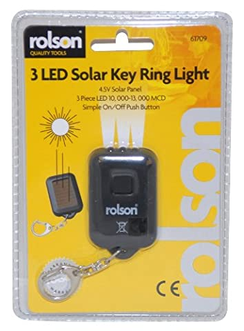 Rolson Quality Tools Ltd 61709 Solar LED Keyring Torch