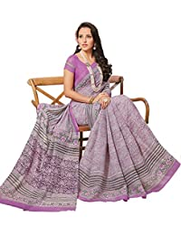 Vipul GREY Art Silk PRINTED Saree With Blouse Piece 33448