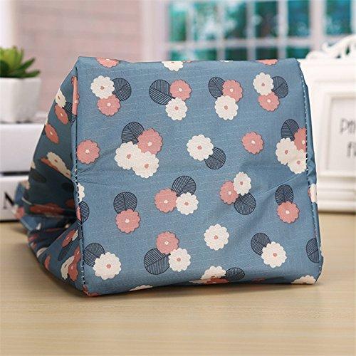 Rieovo pranzo portatile termica di raffreddamento, contenitori per alimenti isolato Carry Bag viaggi picnic borsa blue flower