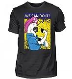 We Can Do It T-Shirt - Einhorn Unicorn Rosie The Riveter Vintage Retro WW2 Geschenk Frau - Herren Shirt