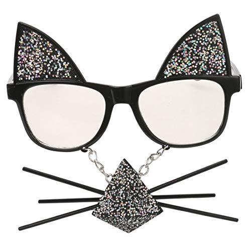 Perfect Party Favor Glasses Partyzubehör Süße Katzenform Fanci-Frame Adult Kids Party Sonnenbrille Brille (Farbe : Schwarz)