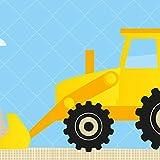 anna wand Bordüre selbstklebend UNDER CONSTRUCTION - Wandbordüre Kinderzimmer / Babyzimmer mit Baustellen-Motiv in Blau Gelb – Wandtattoo Schlafzimmer Mädchen & Junge, Wanddeko Baby / Kinder