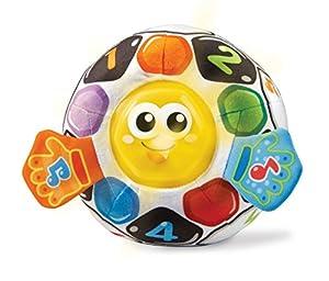 VTech-80-509122, Pelota fútbol bebé Blanda interactiva con más de 45 melodías, Sonidos, Canciones y Frases, favorece la estimulación Sensoria, (3480-509122)