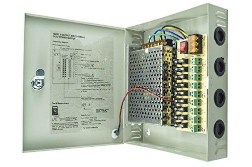 $ ALIMENTATORE STABILIZZATO BOX QUADRO DC 12V 9 USCITE 10A recensioni dei consumatori