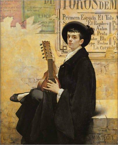 Alu Dibond 60 x 70 cm: In Spain von Louis Montegut / Bridgeman Images (60-musiker-kostüm)