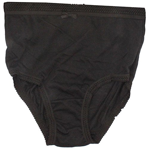 6x Damen Frauen 100% Baumwolle Full Slip pastell Unterwäsche Dessous Mama Gr. XX-Large, schwarz (Slip Baumwoll-slip-full)