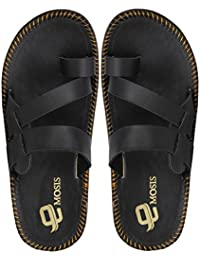 Emosis Men's Stylish 0205 Tan Brown Black In Color Casual Ethnic Party Wear Office Fancy Slipper