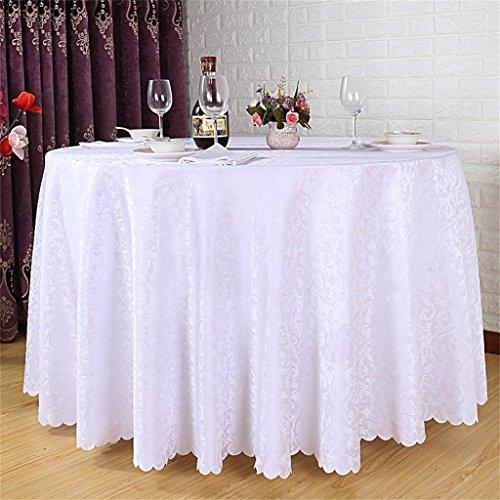 LHL-ZQ Hotel-runder Tabellen-Tischdecke-Tuch europäisches Art-Restaurant-Tabellen-Tuch lockiges Gras-Muster-runder Tisch-Rock (Farbe : # 4, größe : 280cm)