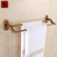 KHSKX Rustico accessori bagno Portasciugamani doppio stelo