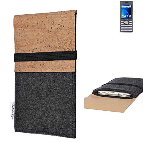 flat.design Handy Hülle SAGRES für Kazam Life B6 Made in Germany Handytasche Filz Tasche Schutz Case fair Kork