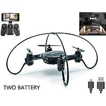 Jasonwell FY603 Min Quadrocopter mit Kamera 720P, WLAN FPV Drohne 2,4G 6-Achsen-Gyroskop, 4-Kanäle, kleiner ferngesteuerter Helikopter mit Höhenhaltung und Headless-System (2 Akkus), gute Wahl für Drohnentraining