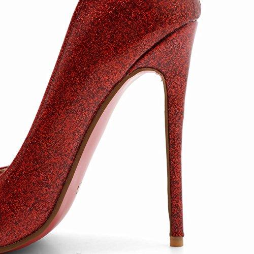 Misssasa Slim Femme Avec Un Talon Haut Belle Rouge