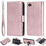 Gift_Source Sony Xperia Z5 Compact Hülle, [Rose Gold] PU Leder Brieftasche Schutzhülle Hülle Handyhülle Handytasche mit Kartenfächer und Standfunktion für Sony Xperia Z5 Compact/Z5 Mini