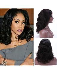 Amazon Fr Perruque Lace Front Cheveux Naturels Perruques
