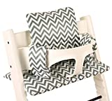 Sitzkissen beschichtet für Stokke Tripp Trapp - Khaki chevron ♥