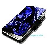 Book Style Handy Tasche - Design F21 - für Microsoft Lumia 532 - Cover Case Schutz Hülle Etui Schutzhülle