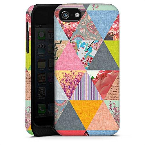 Apple iPhone X Silikon Hülle Case Schutzhülle Triangles Muster Dreiecke Tough Case matt
