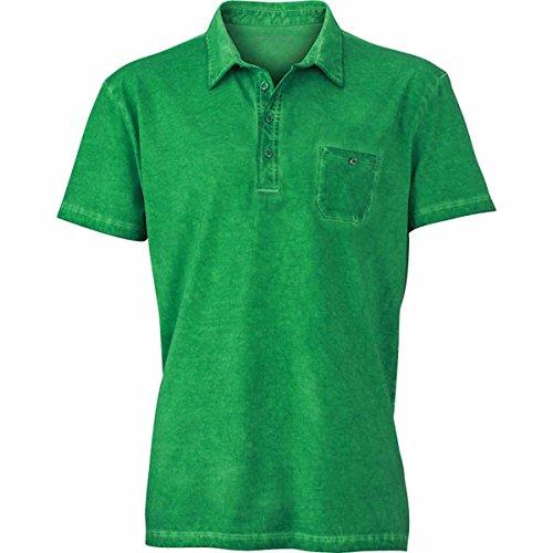 JAMES & NICHOLSON Herren Poloshirt, Einfarbig vert fougère