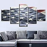 mmwin Lienzo HD Imprima Fotos Modulares 5 Unidades Bandera Americana s Cocina Restaurante Arte de la Pared Poster Decor para la Sala de Estar