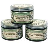 SPARSET 3 St. x Seife für Sauna schwarz Oma Agafja 500 ml. Черное мыло для бани...