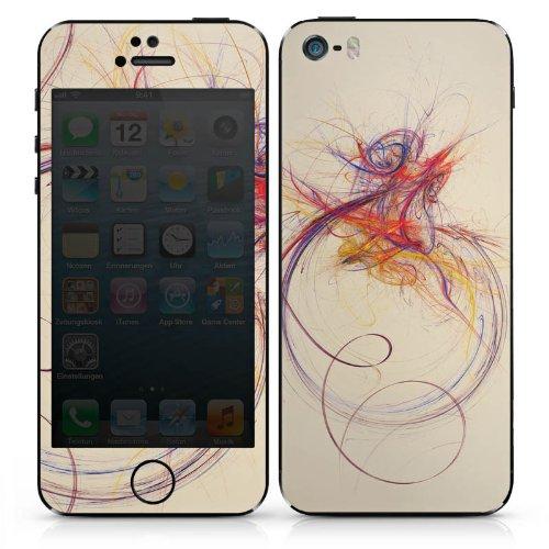 Apple iPhone 3Gs Case Skin Sticker aus Vinyl-Folie Aufkleber Striche Farbe Modern DesignSkins® glänzend
