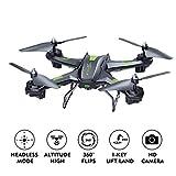 LBLA Drone Caméra FPV 2.4Ghz Quadcopter Télécommande Jouet Hélicoptère RC Lumière LED 3D VR Débutants Enfants