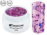 5ML - PRIME LINE - UV LED GEL CRISP Effekt VIOLET Glitzer Farb Color Nail Art Modellage Nagel Lila - MADE IN GERMANY