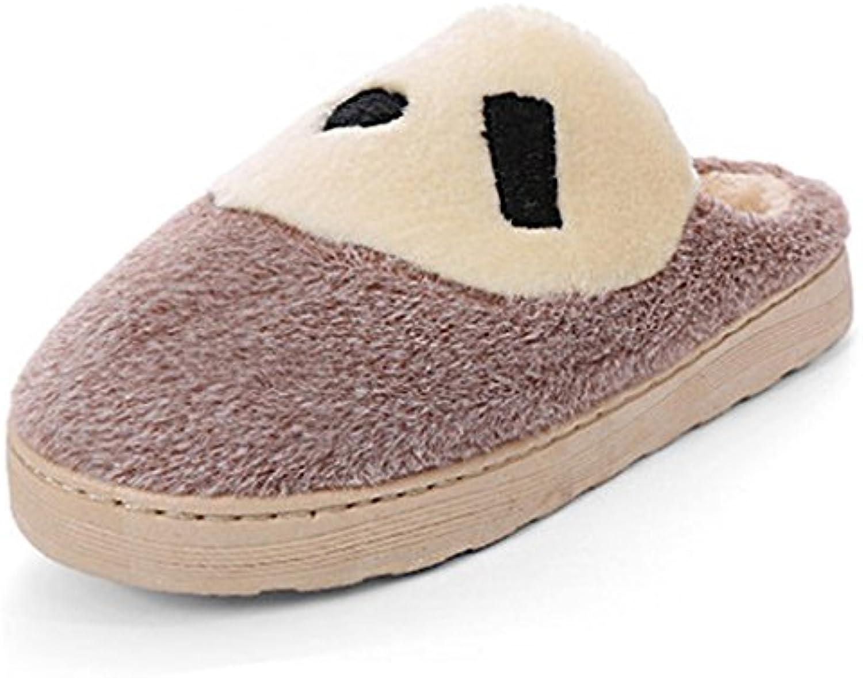 1d09be69e8fbea dww hiver chaud les les les pantoufles de coton épais intérieur  antidérapant, hommes et femmes parents chaussures confort b077kvpcf4  modèles | Supérieure ...