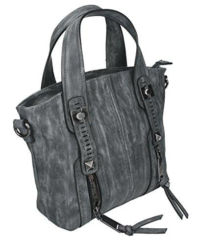Betz. Borsa da donna borsa borsa per donne MADRID 2 borsa con chiusura a zip, tracolla e due manici Grigio