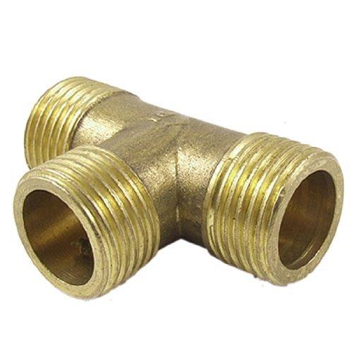 Sourcingmap a11120900ux0625 - Ottone t tubo del carburante acqua forma uguale femminile tee connettore della scheda di filettatura 1/2