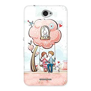 Cute Swing Love Multicolor Back Case Cover for Sony Xperia E4