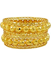 18K Goldplated Ethnic Bollywood Bangles Traditional Jewellery Gift For Women 2*8