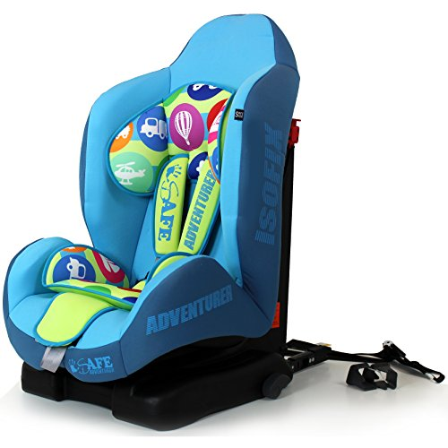 New iSafe iSOFIX Comfy Padded CARSEAT Group 1-9months - 4 Years - Adventurer  iSafe