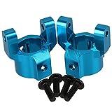 WEONE Ein Set 1/10 Rock Crawler Aluminium Alloy Blue Front C-Hub Bürststaubsauger für SCX10 Model Car Upgrade-Teile (Packung mit 2)