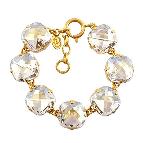 00de03a66 Catherine Popesco Gold Plated Large Clear Crystal Bracelet, La Vie  Parisienne, 8