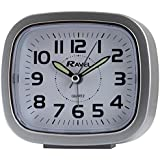 RAVEL RECTANGULAR SILVER ALARM CLOCK WITH BEEP AND LIGHT RC02.02
