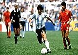 Poster Diego Maradona Action Football Wall Art
