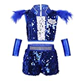 b407b1fa2d1a iEFiEL Ragazza Leotard Vestito di Danza Tuta per Bambina Dancewear 3 Pezzi  Body Senza Maniche Jazz