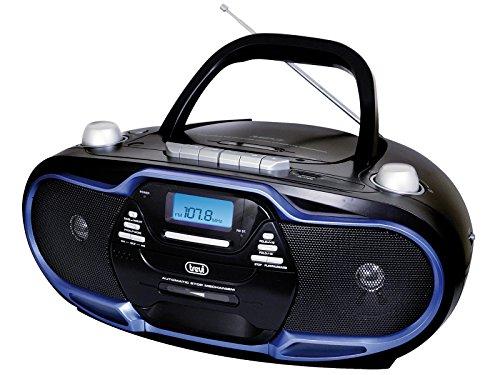 Trevi radioriproduttore Stereo cmp574USB, Kassette, CD, MP3, SB, SD Card, 20W (Fm-radio-tape-player Am)