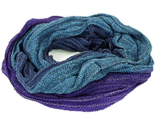GURU-SHOP, Bufanda Soft Loop/Stole, Bufanda Magic Loop, Chaleco, Azul/violeta, Algodón, Tamaño:One Size, Bufandas