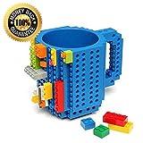 Creative Eco-friendly Building Blocks Plastique Café Tasse de briques de bricolage (Blue)